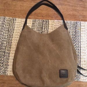 Canvas hobo style purse